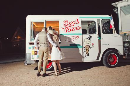 vintage ice cream truck wedding